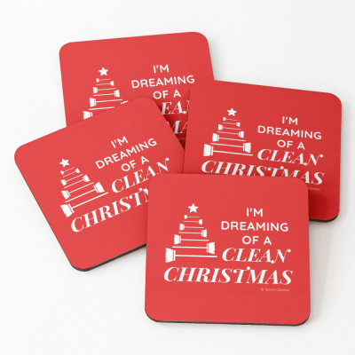 I Am Dreaming of a Clean Christmas, Savvy Cleaner Funny Cleaning Gifts, Cleaning Coasters