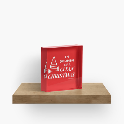 I Am Dreaming of a Clean Christmas, Savvy Cleaner Funny Cleaning Gifts, Cleaning Collectible Cube