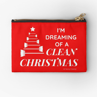 I Am Dreaming of a Clean Christmas, Savvy Cleaner Funny Cleaning Gifts, Cleaning Zipper Bag