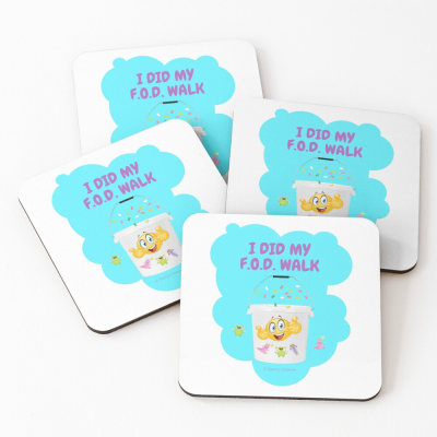 I Did My F.O.D. Walk, Savvy Cleaner Funny Cleaning Gifts, Cleaning Coasters