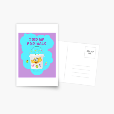 I Did My F.O.D. Walk, Savvy Cleaner Funny Cleaning Gifts, Cleaning Postcard