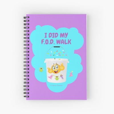 I Did My F.O.D. Walk, Savvy Cleaner Funny Cleaning Gifts, Cleaning Spiral Notepad