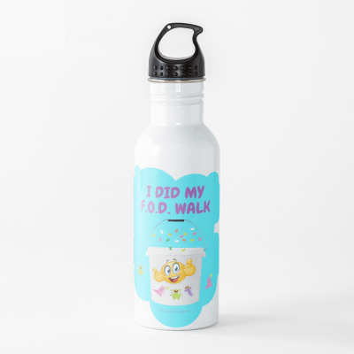 I Did My F.O.D. Walk, Savvy Cleaner Funny Cleaning Gifts, Cleaning Water Bottle