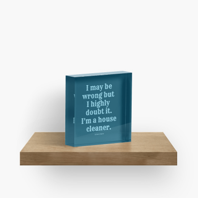 I May Be Wrong, Savvy Cleaner Funny Cleaning gifts, Cleaning Collectible Cube