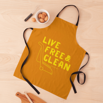 Live Free and Clean, Savvy Cleaner Funny Cleaning Gifts, Cleaning Apron