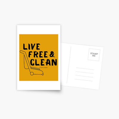 Live Free and Clean, Savvy Cleaner Funny Cleaning Gifts, Cleaning Postcard