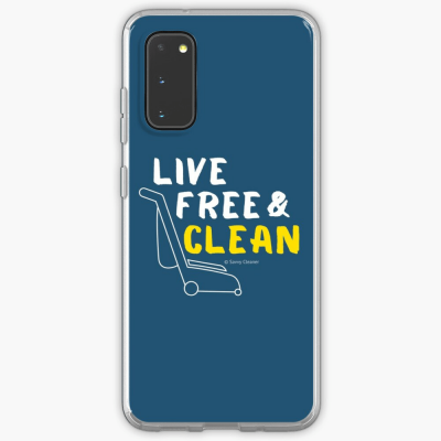 Live Free and Clean, Savvy Cleaner Funny Cleaning Gifts, Cleaning Samsung Galaxy Phone Case