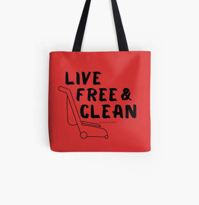 Live Free and Clean, Savvy Cleaner Funny Cleaning Gifts, Cleaning Tote Bag