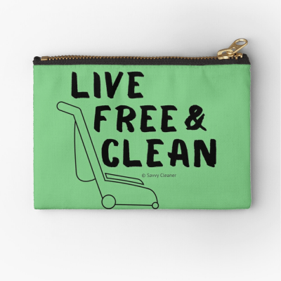 Live Free and Clean, Savvy Cleaner Funny Cleaning Gifts, Cleaning Zipper Bag