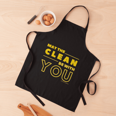 May the Clean Be With You, Savvy Cleaner Funny Cleaning Gifts, Cleaning Apron