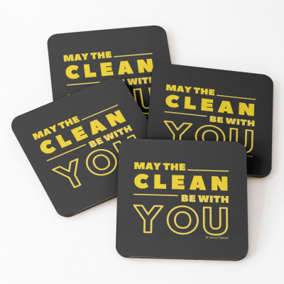 May the Clean Be With You, Savvy Cleaner Funny Cleaning Gifts, Cleaning Coasters - Copy - Copy