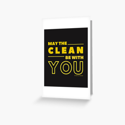 May the Clean Be With You, Savvy Cleaner Funny Cleaning Gifts, Cleaning Greeting Card