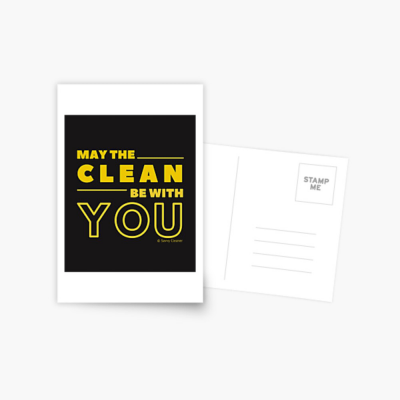 May the Clean Be With You, Savvy Cleaner Funny Cleaning Gifts, Cleaning Postcard