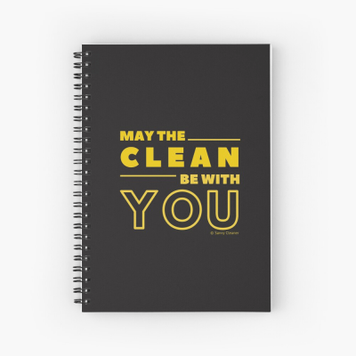 May the Clean Be With You, Savvy Cleaner Funny Cleaning Gifts, Cleaning Spiral Notepad