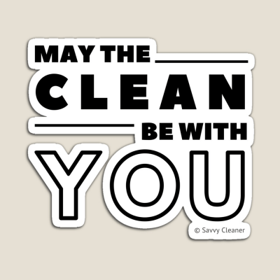 May the Clean Be With You, Savvy Cleaner Funny Cleaning Gifts, Cleaning magnet