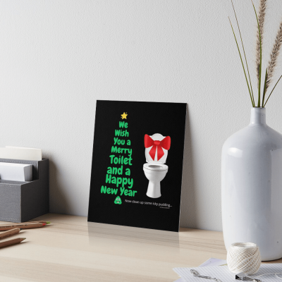 Merry Toilet, Savvy Cleaner Funny Cleaning Gifts, Cleaning Art Board Print