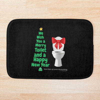 Merry Toilet, Savvy Cleaner Funny Cleaning Gifts, Cleaning Bath Mat