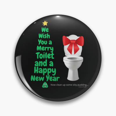 Merry Toilet, Savvy Cleaner Funny Cleaning Gifts, Cleaning Button