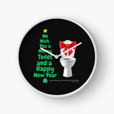 Merry Toilet, Savvy Cleaner Funny Cleaning Gifts, Cleaning Clock