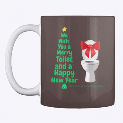 Merry Toilet, Savvy Cleaner Funny Cleaning Gifts, Cleaning Cloth Face Mug
