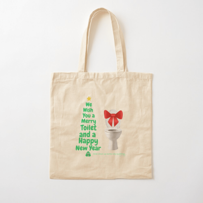 Merry Toilet, Savvy Cleaner Funny Cleaning Gifts, Cleaning Cotton Tote Bag