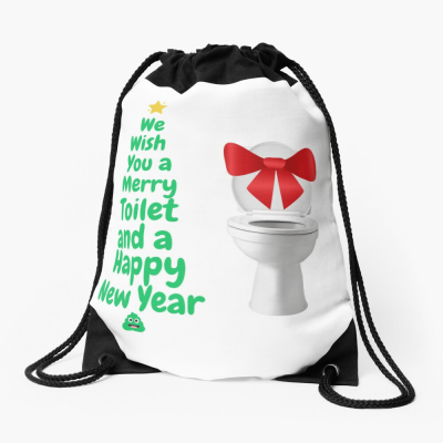 Merry Toilet, Savvy Cleaner Funny Cleaning Gifts, Cleaning Drawstring Bag