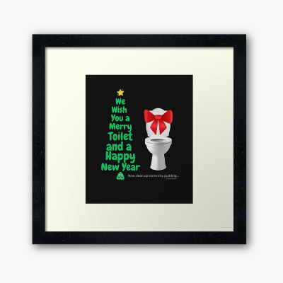 Merry Toilet, Savvy Cleaner Funny Cleaning Gifts, Cleaning Framed Art Print