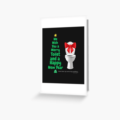 Merry Toilet, Savvy Cleaner Funny Cleaning Gifts, Cleaning Greeting Card