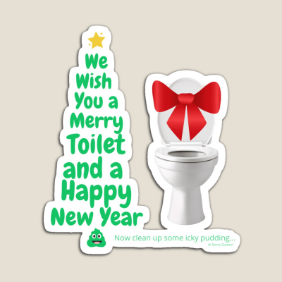 Merry Toilet, Savvy Cleaner Funny Cleaning Gifts, Cleaning Magnet