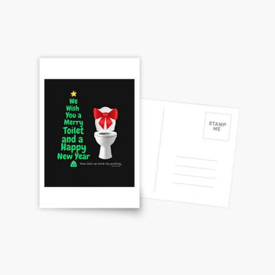 Merry Toilet, Savvy Cleaner Funny Cleaning Gifts, Cleaning Postcard