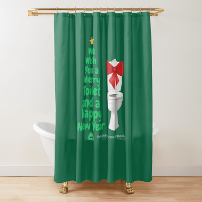 Merry Toilet, Savvy Cleaner Funny Cleaning Gifts, Cleaning Shower Curtain