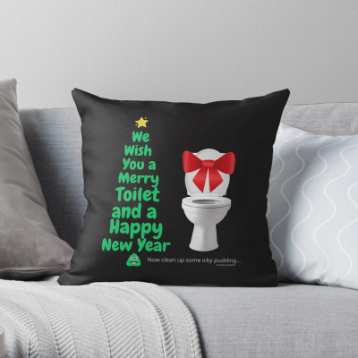 Merry Toilet, Savvy Cleaner Funny Cleaning Gifts, Cleaning Throw Pillow
