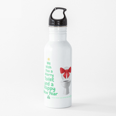 Merry Toilet, Savvy Cleaner Funny Cleaning Gifts, Cleaning Water Bottle