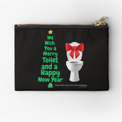 Merry Toilet, Savvy Cleaner Funny Cleaning Gifts, Cleaning Zipper Bag