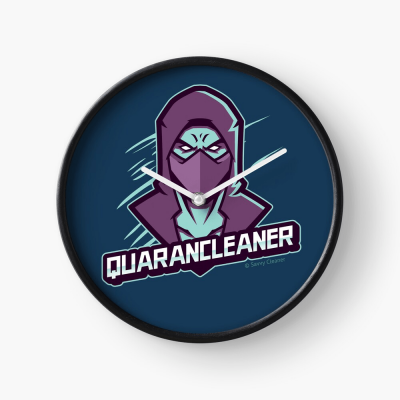 Quarancleaner, Savvy Cleaner Funny Cleaning Gifts, Cleaning Clock