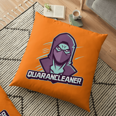 Quarancleaner, Savvy Cleaner Funny Cleaning Gifts, Cleaning Floor Pillow