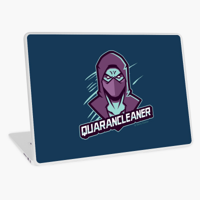 Quarancleaner, Savvy Cleaner Funny Cleaning Gifts, Cleaning Laptop Skin