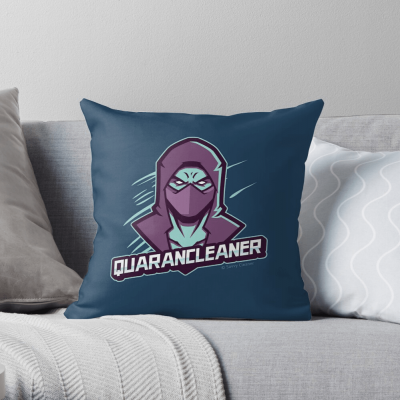 Quarancleaner, Savvy Cleaner Funny Cleaning Gifts, Cleaning Throw Pillow