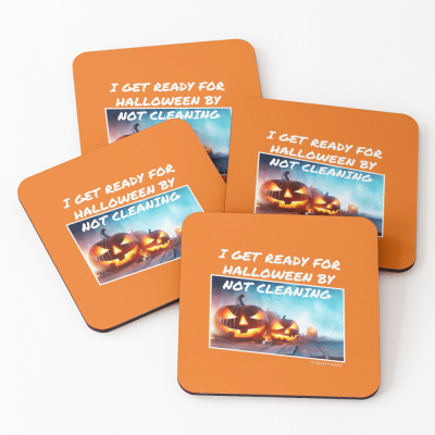 Ready for Halloween, Savvy Cleaner Funny Cleaning Gifts, Cleaning Coasters