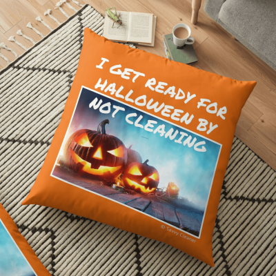 Ready for Halloween, Savvy Cleaner Funny Cleaning Gifts, Cleaning Floor Pillow