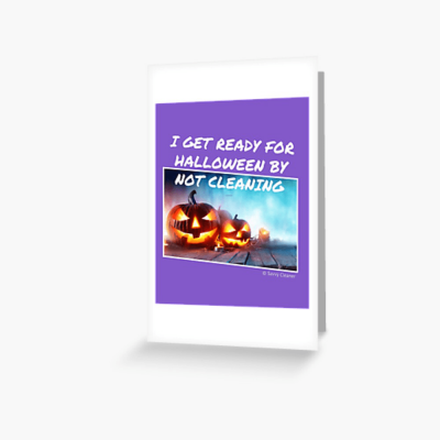 Ready for Halloween, Savvy Cleaner Funny Cleaning Gifts, Cleaning Greeting Card