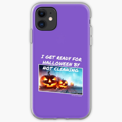 Ready for Halloween, Savvy Cleaner Funny Cleaning Gifts, Cleaning Iphone Case