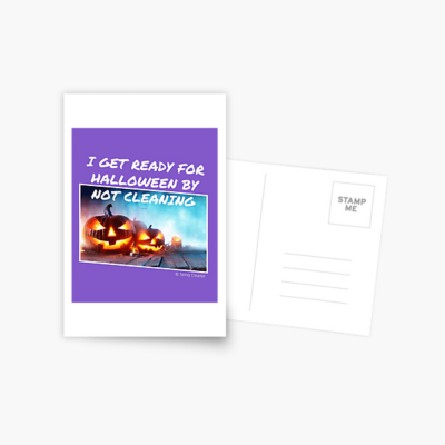 Ready for Halloween, Savvy Cleaner Funny Cleaning Gifts, Cleaning Postcard