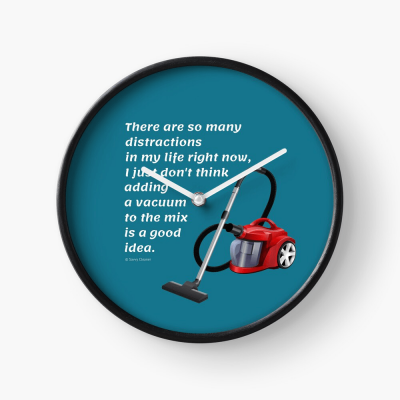 So Many Distractions, Savvy Cleaner Funny Cleaning Gifts, Cleaning Clock