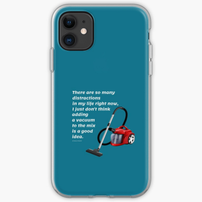 So Many Distractions, Savvy Cleaner Funny Cleaning Gifts, Cleaning Iphone Case