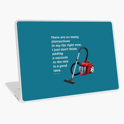 So Many Distractions, Savvy Cleaner Funny Cleaning Gifts, Cleaning Laptop Skin