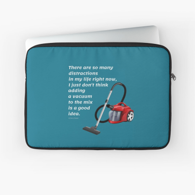 So Many Distractions, Savvy Cleaner Funny Cleaning Gifts, Cleaning Laptop Sleeve