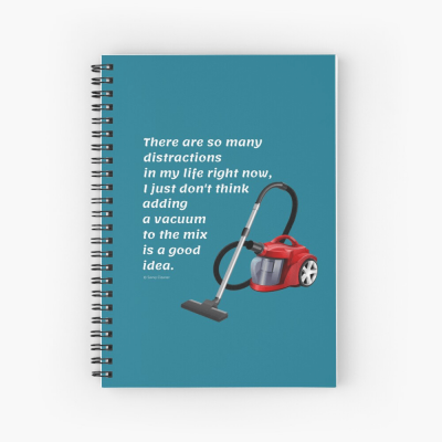 So Many Distractions, Savvy Cleaner Funny Cleaning Gifts, Cleaning Spiral Notepad