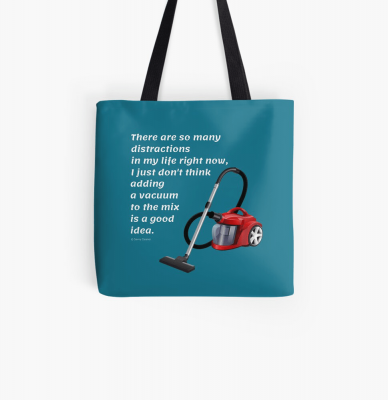 So Many Distractions, Savvy Cleaner Funny Cleaning Gifts, Cleaning Tote Bag