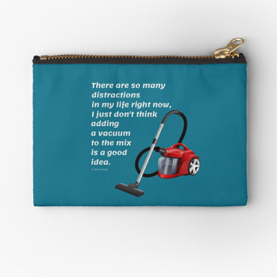 So Many Distractions, Savvy Cleaner Funny Cleaning Gifts, Cleaning Zipper Bag